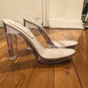 Steve Madden x Winnie Harlow Clear Heels